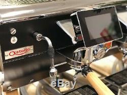 Astoria Tempête Tout Neuf Noir Et Bois 2 Groupe Espresso Café Café Machine