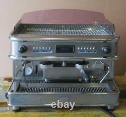 Bfc F1 Monza 2gv El 2 Groupe 3800w 3ph Espresso Machine À Café Argent