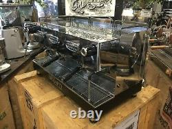 Brugnetti Delta 3 Groupe Black Stainless Steel Espresso Coffee Machine Commercial