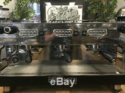 Brugnetti Delta 3 Groupe Noir Acier Inoxydable Espresso Machine À Café De Commerce