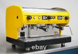 Cma Astoria 2 Groupe Lisa Coffee Espresso Machine Groovy Vibrant Jaune