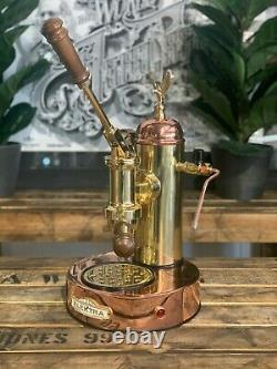 Elektra Micro Casa Leva 1 Groupe Brand New Or Et Bronze Espresso Café Machin