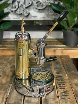 Elektra Micro Casa Leva 1 Groupe Flambant Neuf Gold Chrome Espresso Coffee Machine