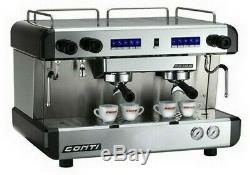 Espresso Café Commercial Machine 2 Groupe Conti Cc100 Entièrement Entretenu
