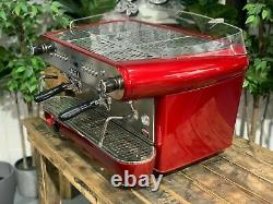 Gaggia Deco Dp 2 Groupe Rouge Espresso Machine À Café Commercial Cafe Panier Barista