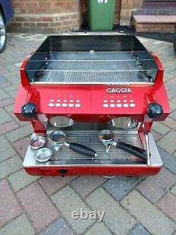 Gaggia Gd Compact 2 Groupe Espresso Coffee Machine Red Used, Vgc Collection
