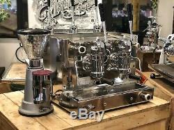 Gaggia Levier Vintage 2 Groupe Espresso Machine À Café & Moulins À Café Combo Barist