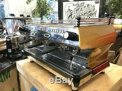 La Marzocco Fb80 3 Gold Group Espresso Machine À Café Restaurant Cafe Latte Bean