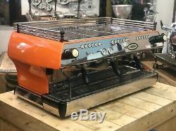 La Marzocco Fb80 3 Groupe Orange Espresso Machine À Café Restaurant Cafe Latte