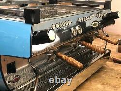 La Marzocco Gb5 3 Groupe Custom Baby Blue Espresso Coffee Machine Commercial Cafe