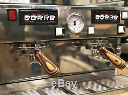 La Marzocco Linea Classic 2 Poignées En Bois Blanc Groupe Machine À Café Espresso
