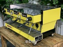 La Marzocco Linea Classic 3 Groupe Jaune Espresso Machine À Café Personnalisé Barista