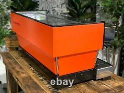 La Marzocco Linea Classic 3 Groupe Orange Espresso Coffee Machine Maker Cafe Bar