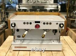 La Marzocco Linea Pb 2 Groupe Custom White & Gold Espresso Machine À Café
