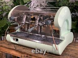 La Pavoni Bar S Lever 2 Groupe Green Espresso Machine À Café Commercial Cafe Bar