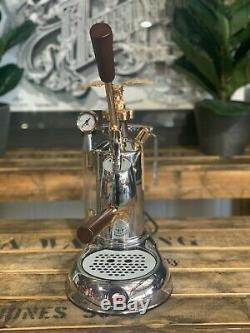 La Pavoni Expo 1 Groupe Leva Or Brand New Espresso Machine À Café Café Domestique
