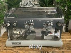 Rancilio Epoca 2 Groupe Noir Et Gris Espresso Coffee Machine Commercial Barista