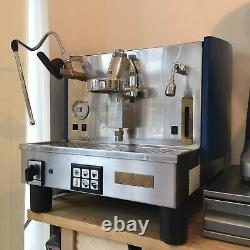 Rénové 1 Groupe Fiorenzato Ducale Espresso Machine À Café Bleu