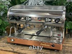 Saint-marin Lisa 2 Groupe Chrome Brass Base Espresso Machine À Café Commerciale