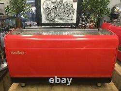 Saint-marin Lisa R 3 Groupe Red Espresso Machine À Café Commercial Café Barista