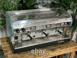 San Marino Lisa 3 Groupe Bleu Machine À Café Expresso Vert Commercial Bar Personnalisé