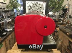 San Marino Lisa 3 Groupe Red Espresso Machine À Café Commercial Showroom Café