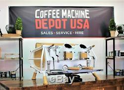 Sanremo White & Wood Cafe Racer 2 Commercial Machine À Expresso Groupe