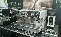 Tout Nouveau Iberital Ib7 2 Groupe White Espresso Coffee Machine Exc Tva