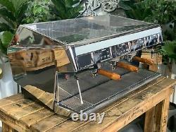 Unic DI Stella Caffe 3 Groupe Chrome Espresso Machine À Café Commercial Barista S