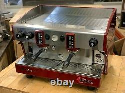 Wega Atlas 2 Groupe Red Espresso Machine À Café Commercial Cafe Barista Beans Cup