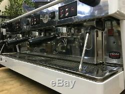 Wega Atlas 3 Blanc Groupe Espresso Machine À Café Café Barista Haricots Commerciaux