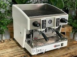 Wega Atlas Compact Evd 2 Groupe White Espresso Coffee Machine Commercial Cafe