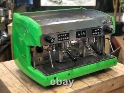 Wega Polaris 2 Group Lime Green Espresso Coffee Machine Commercial Cafe Accueil