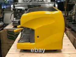 Wega Polaris 2 Groupe Yellow Espresso Coffee Machine Commercial Cafe Barista Cart