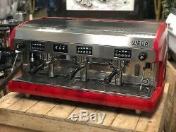 Wega Polaris 3 Red Group Espresso Machine À Café Commercial Cup Cafe Barista